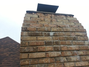 Brick failure faces popping off or spalling