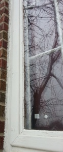 Failing caulk joint at window
