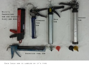 Different types of caulk is used in different caulking guns