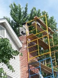 Chimney Rebuild start