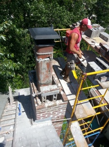 Chimney rebuild progress2