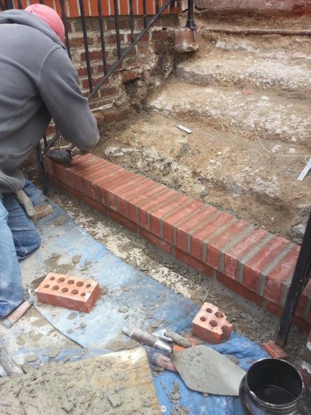 Brick Step stairs progress of work2