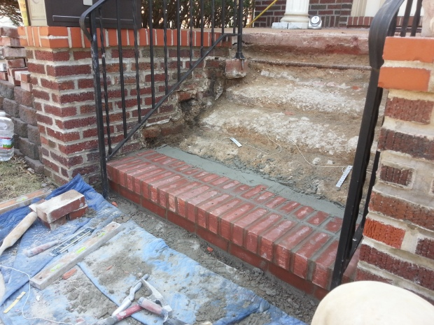 Brick Step stairs progress of work3