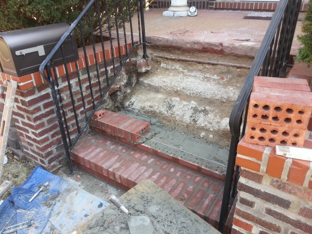 Brick Step stairs progress of work4