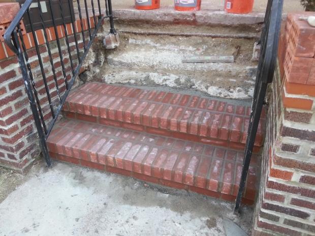 Brick Step stairs progress of work 5