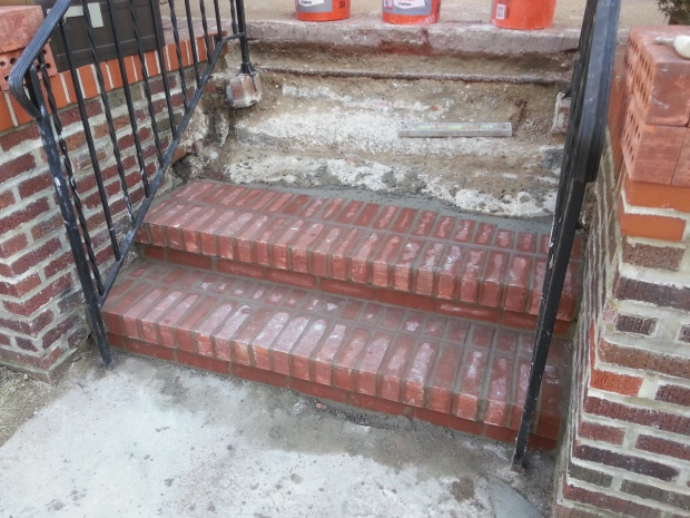 Brick Step stairs progress of work 5