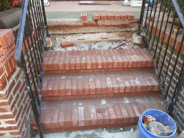 Brick Step stairs progress of work 6