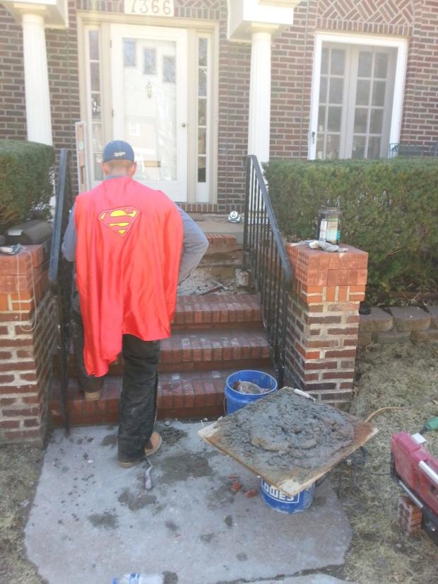 Brick Step stairs progress of work 7