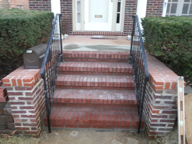 Brick steps restored to original solid function