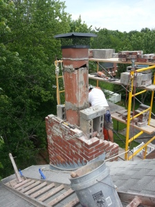 Chimney rebuild progress