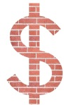 Brick Dollar Sign