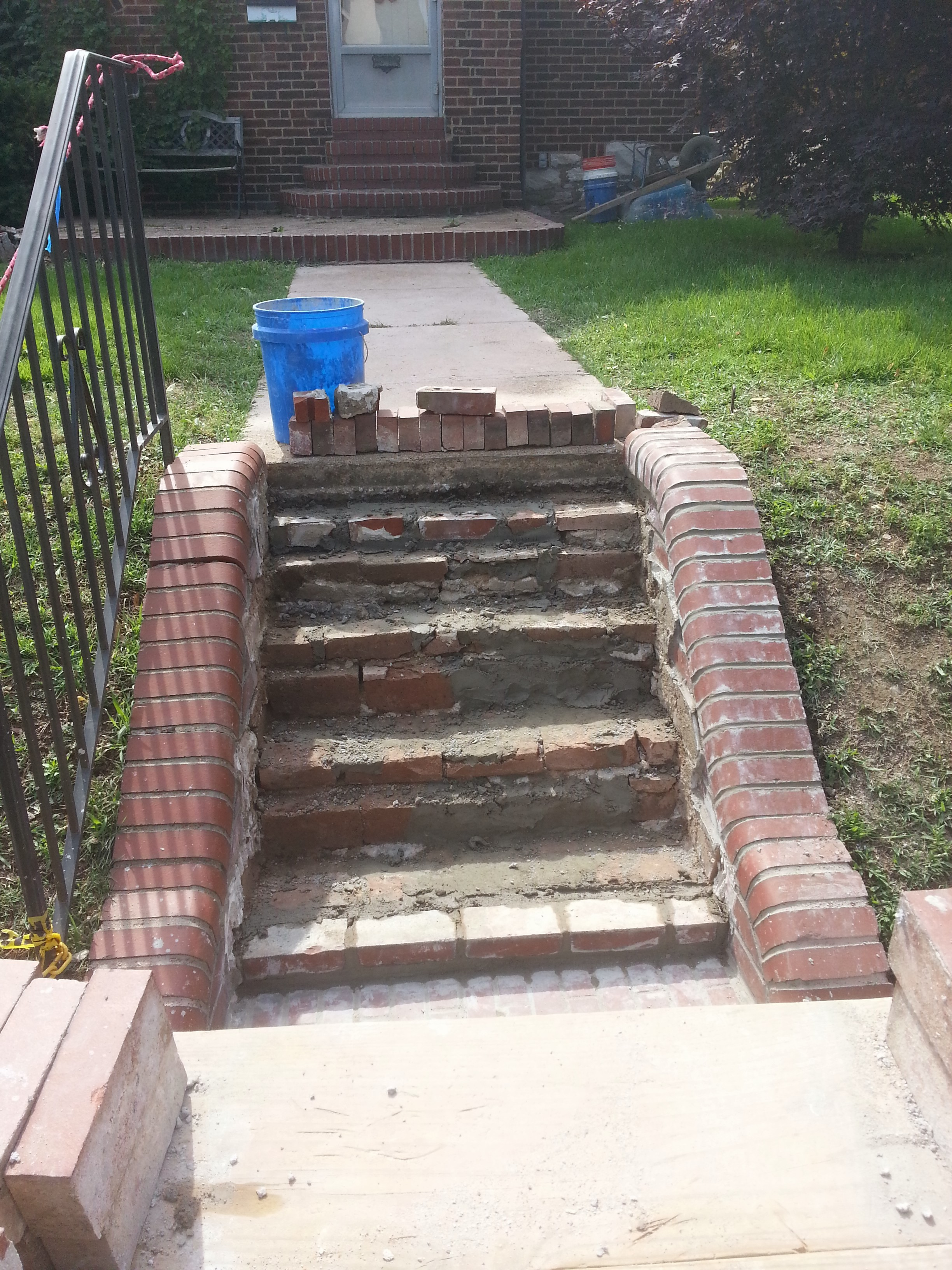 Masonry Steps: Stairs Relaid In St. Louis Hills/Princeton Heights