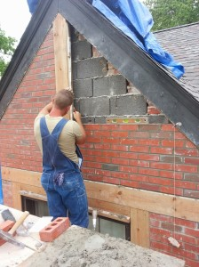 Brick Repair nearing completion