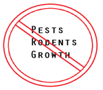 No pests rodents or growth