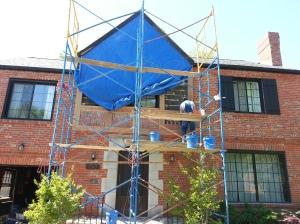 Brick Repair Progress