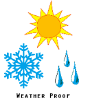 weatherproof symbol
